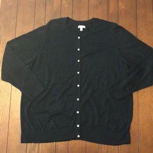 Croft & Barrow Black Button Up Cardigan Size 2X